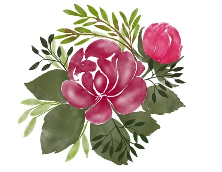 feng shui bedroom flower painting