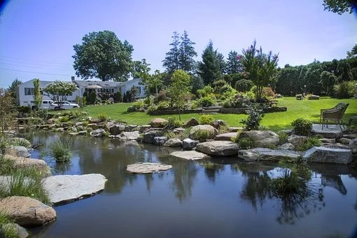 Feng shui garden stones