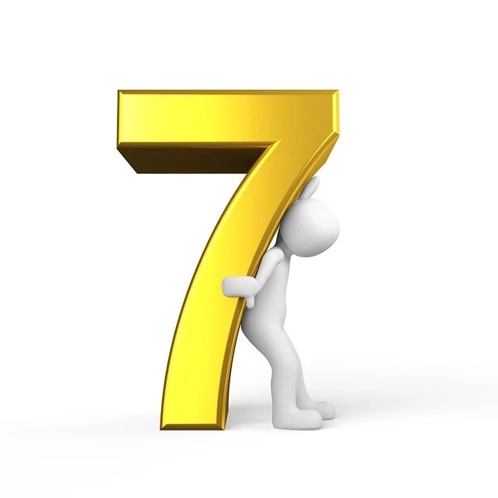 Feng Shui Lucky Number Seven
