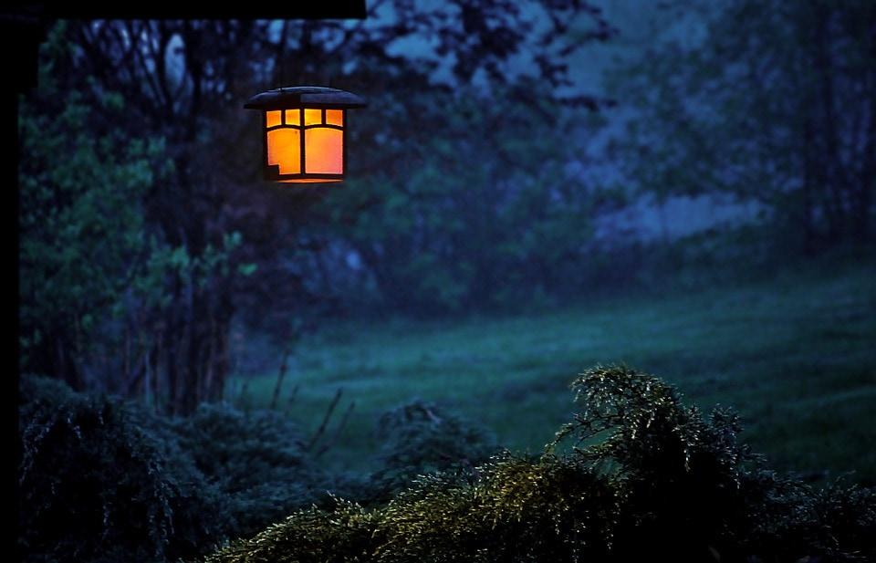 Fengshui garden lights