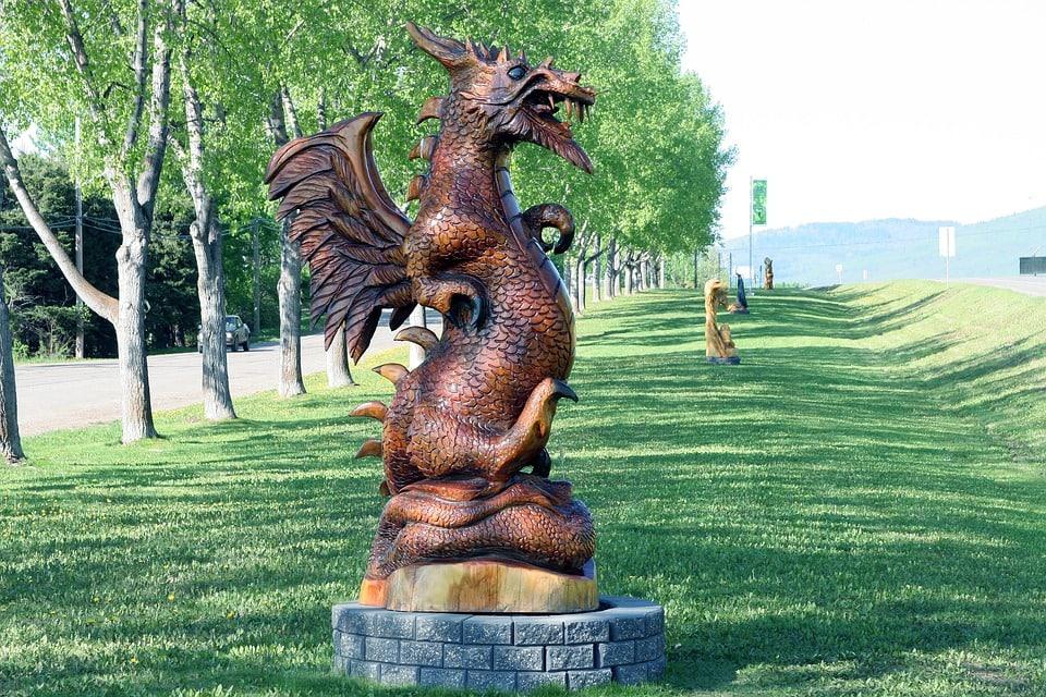 Feng Shui Dragon Statue