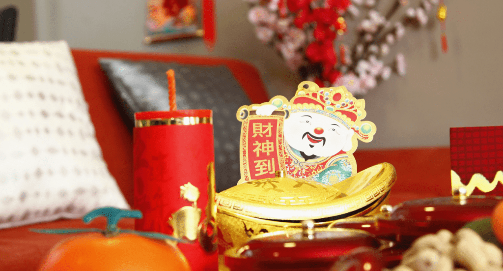 Chinese new year flowers and decoration