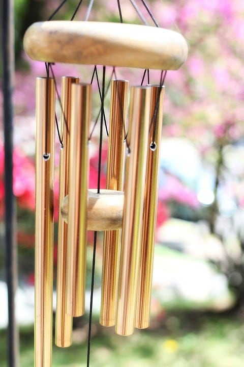 YODOOLTLY Lucky Wind Chimes Feng Shui Wind Chime Outdoor Good Luck Hanging Charm with 3 Metal Bell Wind Bell for Garden Home Patio Yard Butterfly