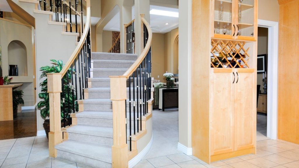Staircase At The Middle of A Home