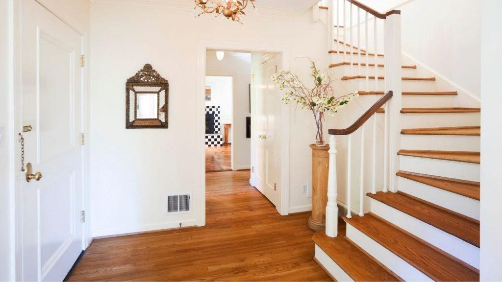 Staircase facing main door